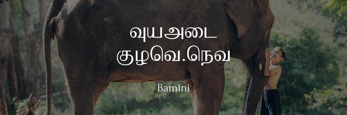 Bamini Font – Free Download and Installation + Tamil Keyboard