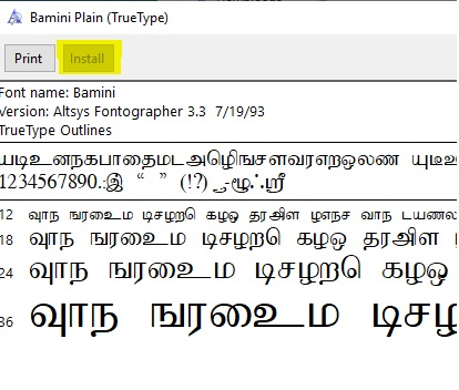 Tamil fonts for Windows 10 (How to Install)